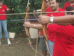 Saddle Creek Ranch includes archery in its team building events