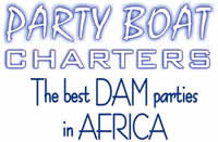 Boat charters on the Vaal Dam with Party Boat Charters