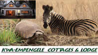 Kwa-Empengele Cottages are situated in the Rhenosterspruit Nature Reserve in the Cradle of Mankind Heritage site.